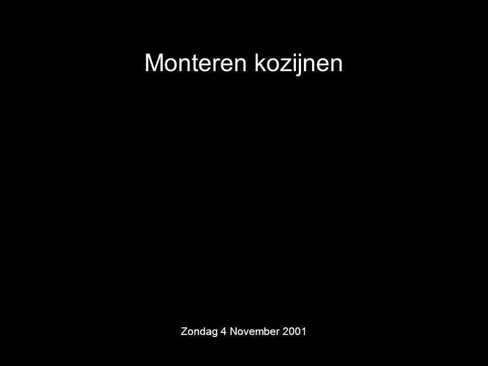 Monteren kozijnen Zondag 4 November 2001