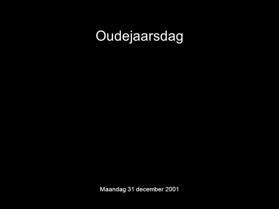 Oudejaarsdag Maandag 31 december 2001