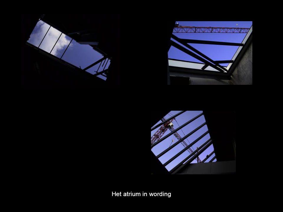Het atrium in wording