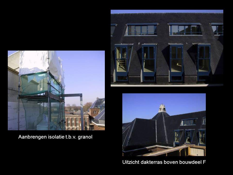 Aanbrengen isolatie t.b.v. granol Uitzicht dakterras boven bouwdeel F