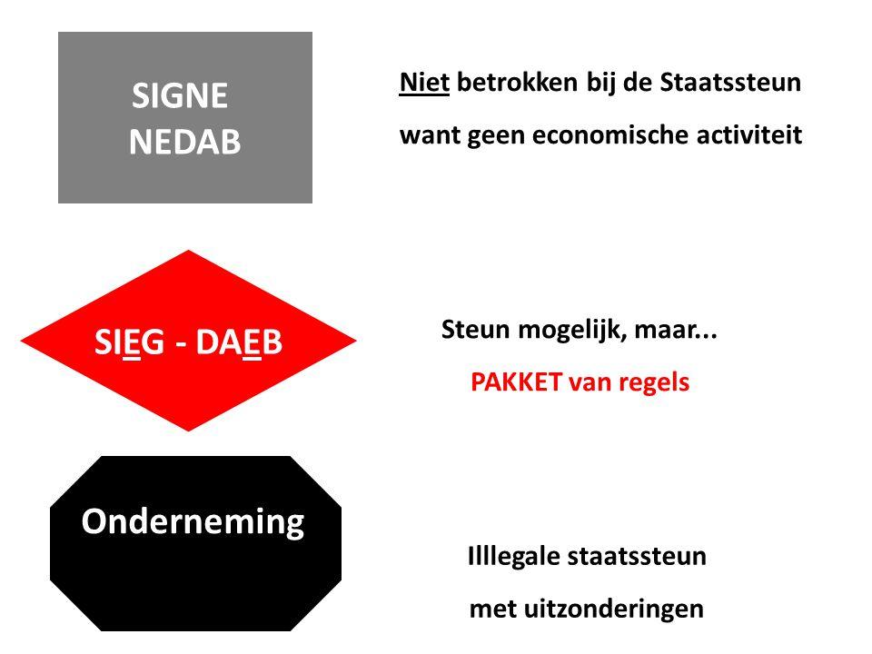 SIEG - DAEB Onderneming SIGNE NEDAB Steun mogelijk, maar...