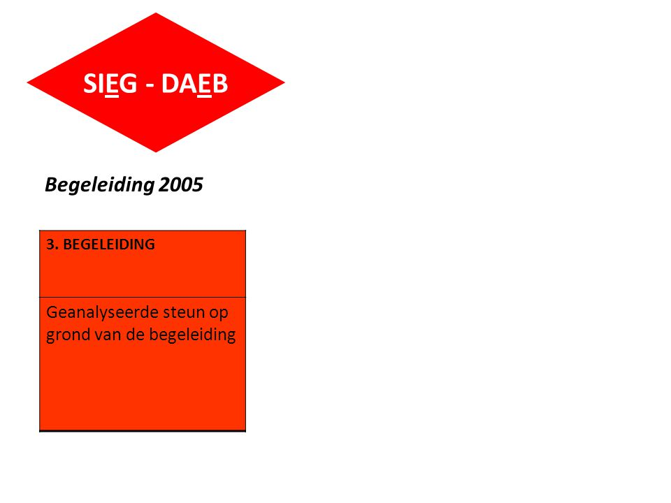 SIEG - DAEB Begeleiding 2005 3. BEGELEIDING Geanalyseerde steun op grond van de begeleiding