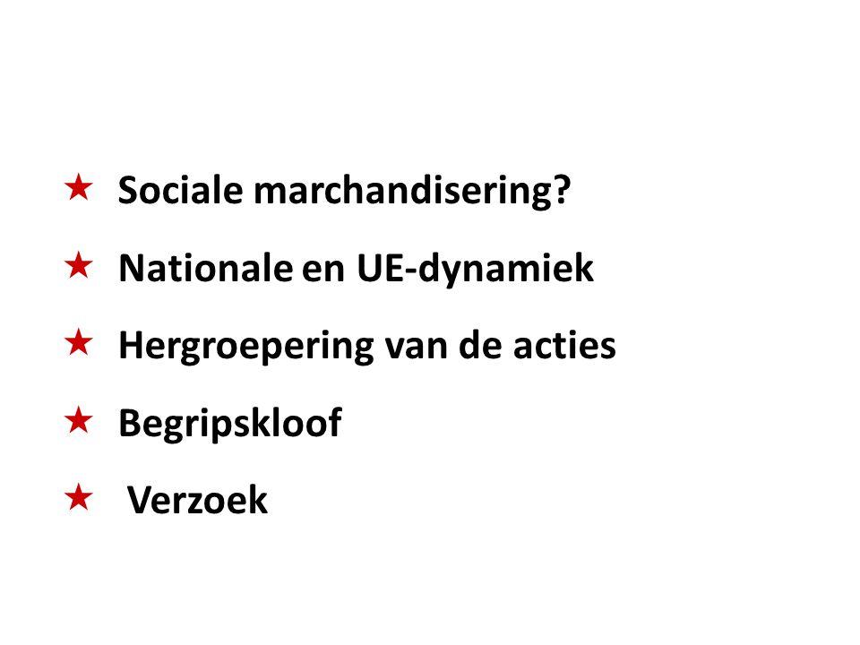  Sociale marchandisering.