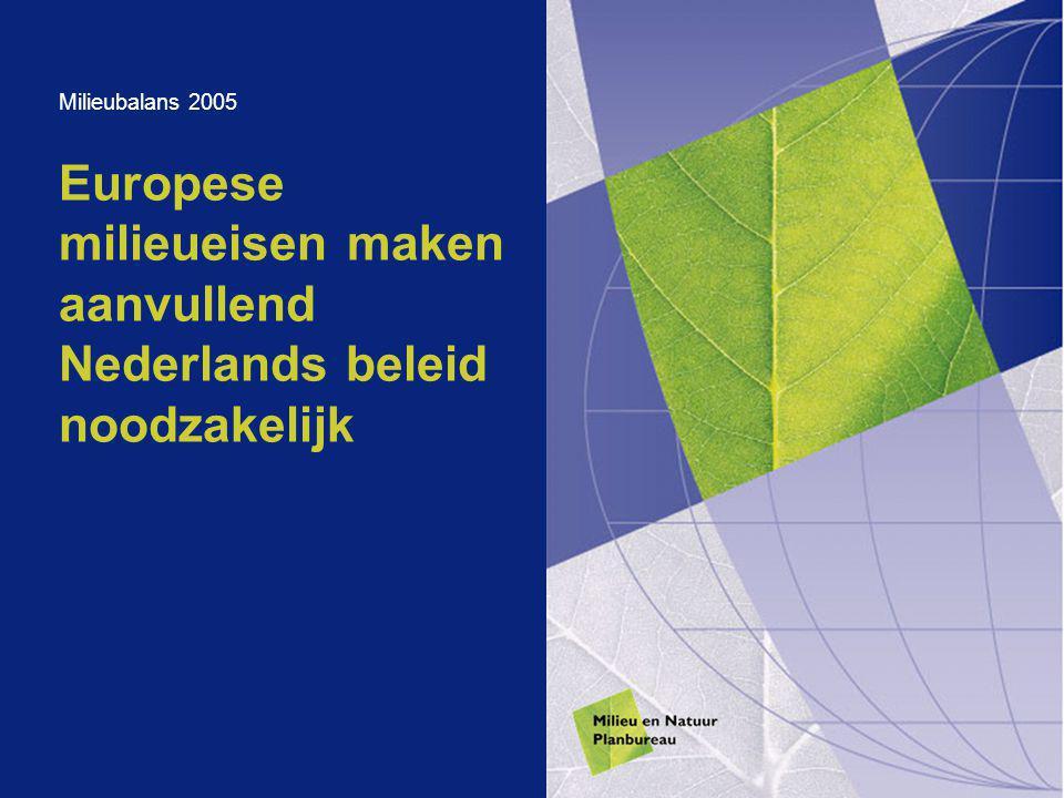 Europese milieueisen maken aanvullend Nederlands beleid noodzakelijk Milieubalans 2005