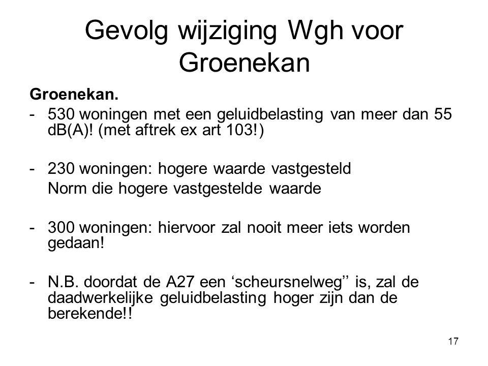 17 Gevolg wijziging Wgh voor Groenekan Groenekan.