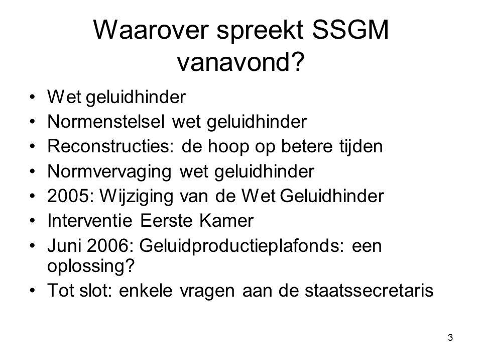 3 Waarover spreekt SSGM vanavond.