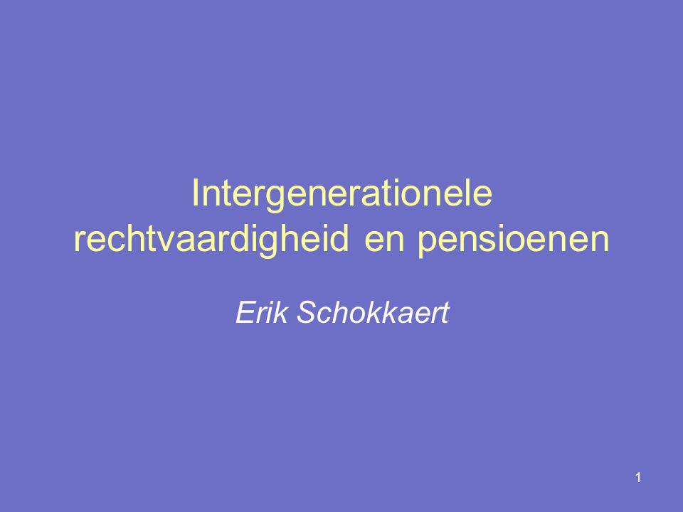 1 Intergenerationele rechtvaardigheid en pensioenen Erik Schokkaert
