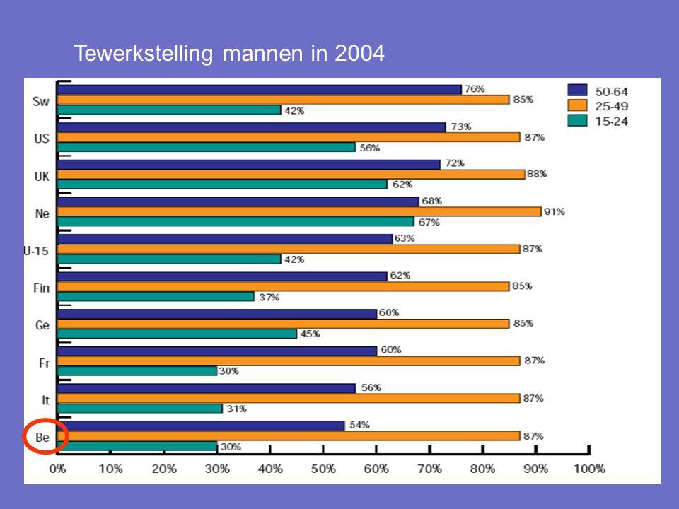 13 Tewerkstelling mannen in 2004