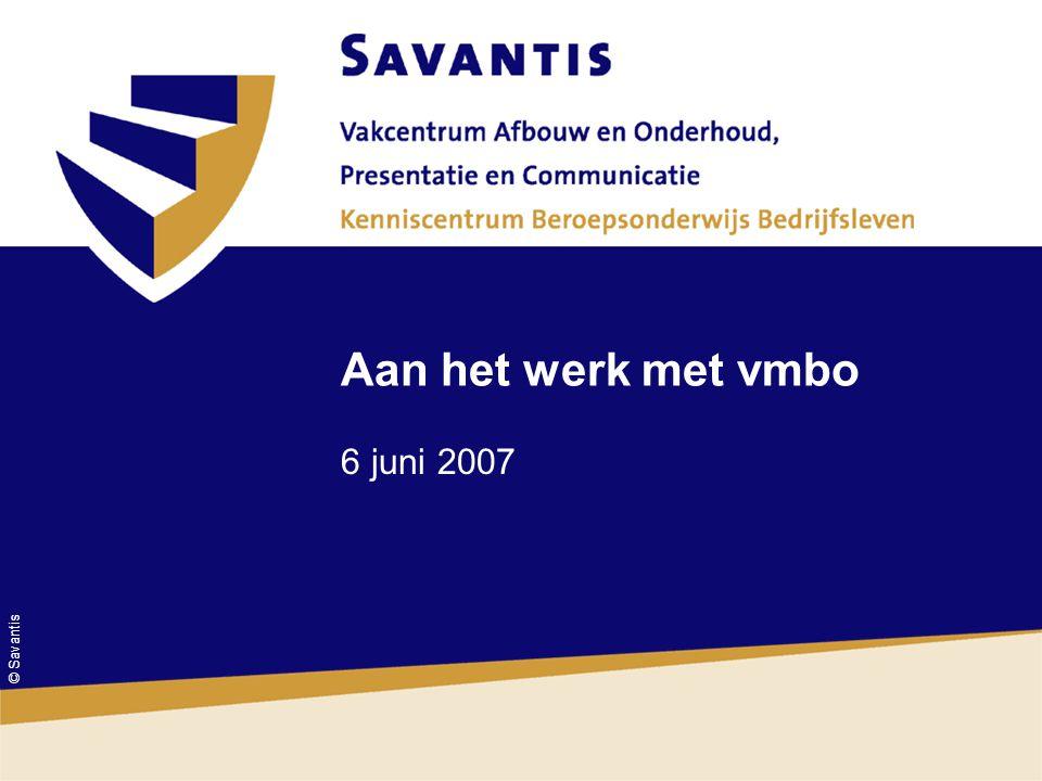 © Savantis Aan het werk met vmbo 6 juni 2007