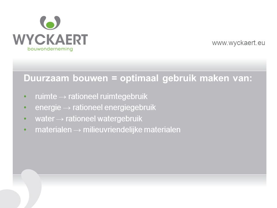 Belang van de rol van de aannemer is afhankelijk van het moment waarop hij betrokken wordt bij het project bouwteam ontwerp optimaliseren uitvoerder www.wyckaert.eu