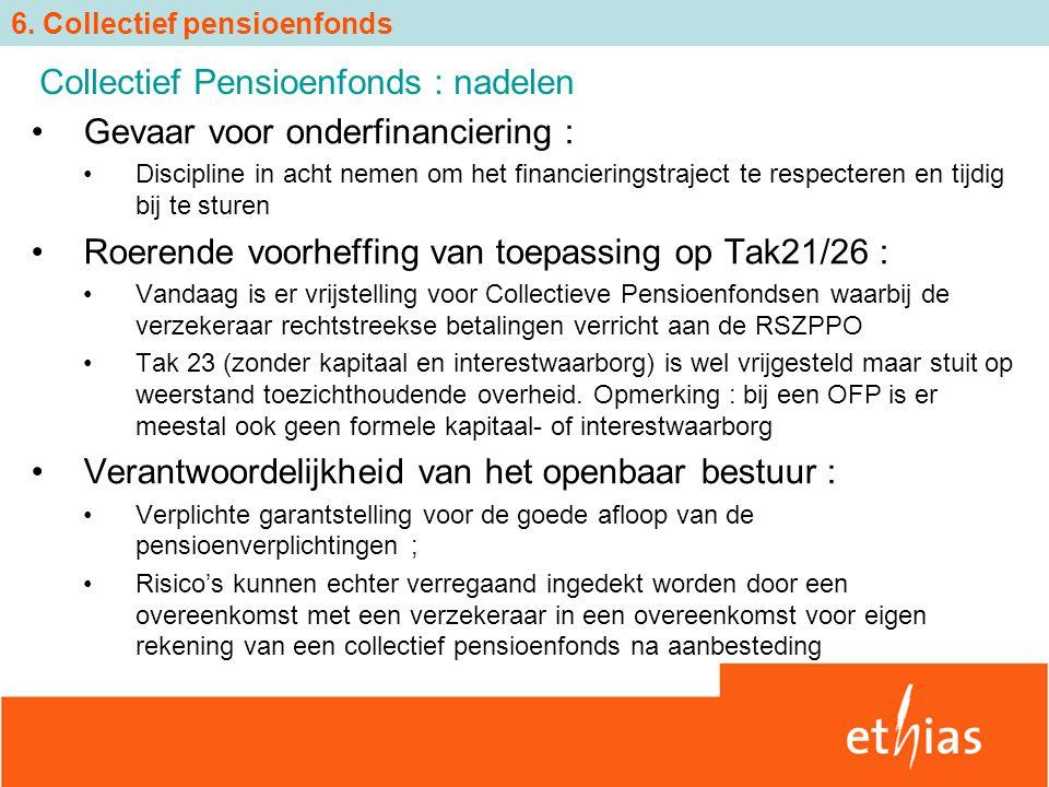 Gevaar voor onderfinanciering : Discipline in acht nemen om het financieringstraject te respecteren en tijdig bij te sturen Roerende voorheffing van t