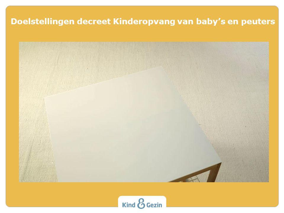 1.Infrastructuur 2.Veiligheid en Gezondheid 3.Omgang met kinderen en gezinnen 4.Personen werkzaam in de kinderopvang 5.Organisatorisch management 6.Samenwerking Werkingsvoorwaarden