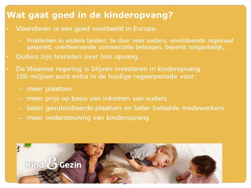 Wat gaat goed in de kinderopvang? Vlaanderen is een goed voorbeeld in Europa. – Problemen in andere landen: te duur voor ouders, onvoldoende regionaal