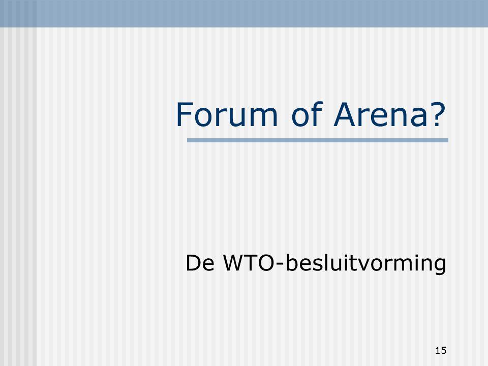 15 Forum of Arena De WTO-besluitvorming