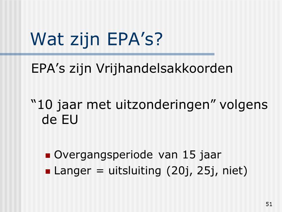 51 Wat zijn EPA's.