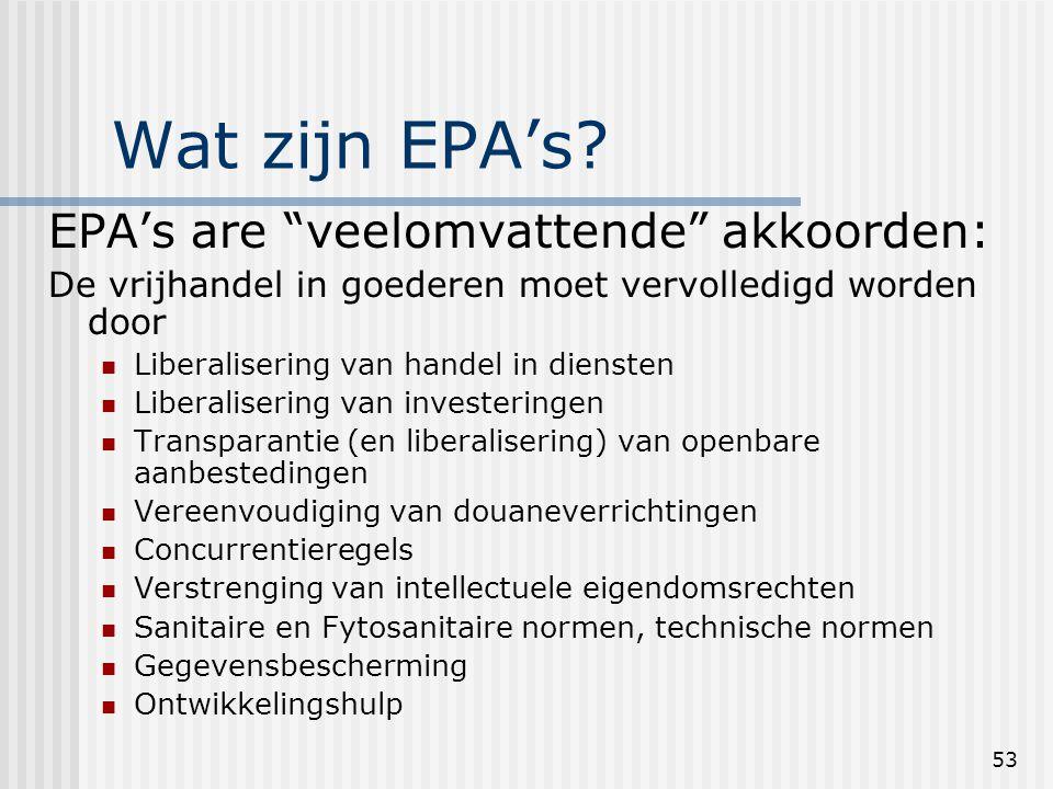 53 Wat zijn EPA's.