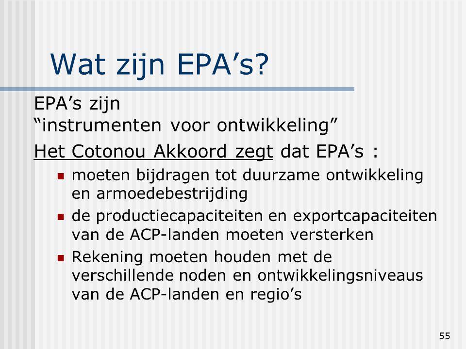 55 Wat zijn EPA's.