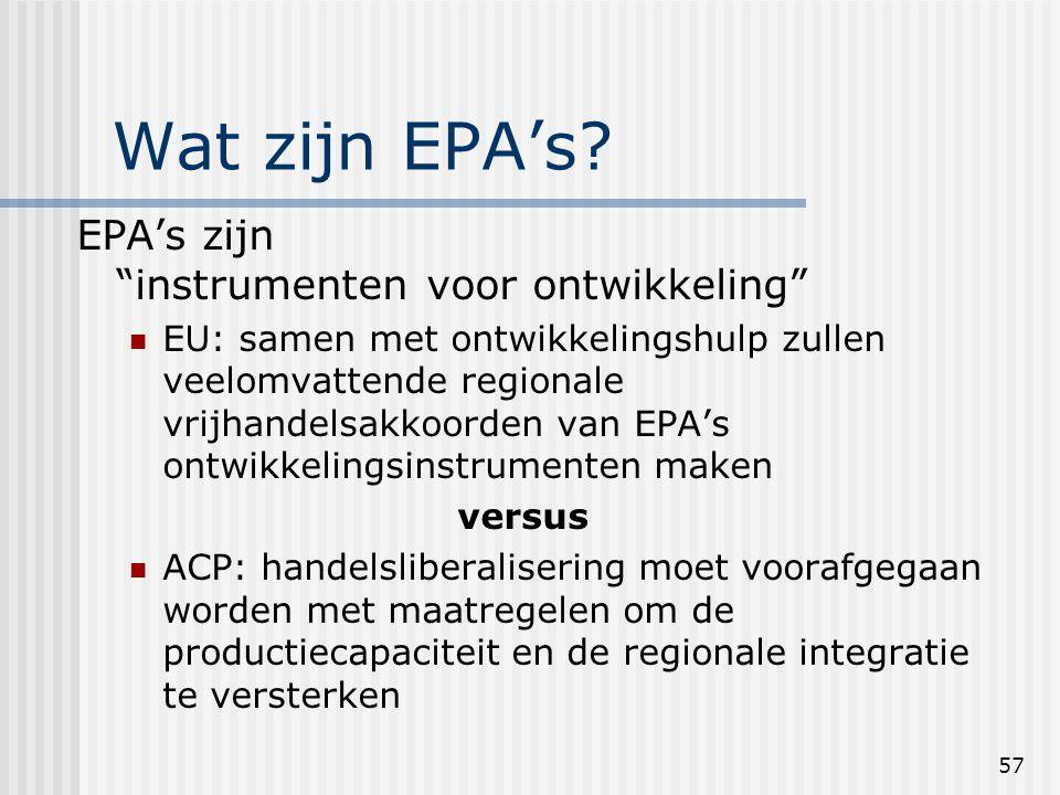 57 Wat zijn EPA's.
