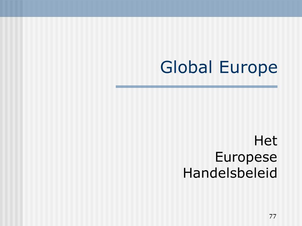 77 Global Europe Het Europese Handelsbeleid