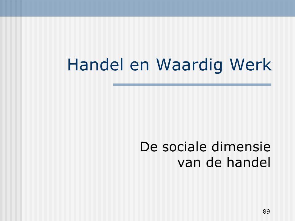 89 Handel en Waardig Werk De sociale dimensie van de handel