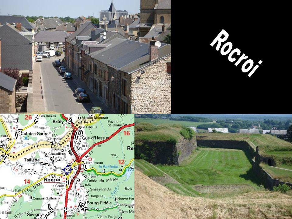 Eerste halte – Rocroi – Vroeger was Rocroi omgeven door een brede gracht met water.