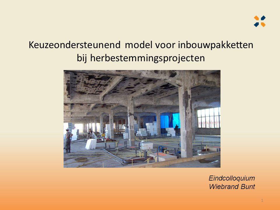 Keuzeondersteunend model voor inbouwpakketten bij herbestemmingsprojecten Eindcolloquium Wiebrand Bunt 1