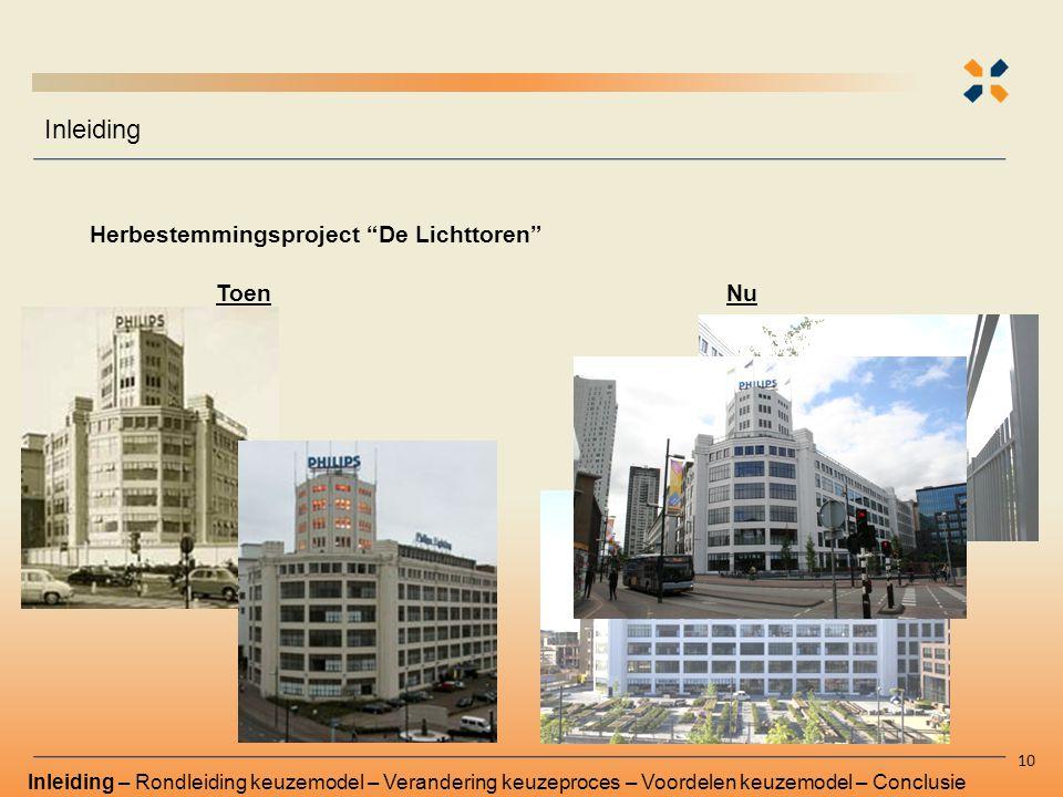 """Inleiding 10 ToenNu Herbestemmingsproject """"De Lichttoren"""" Inleiding – Rondleiding keuzemodel – Verandering keuzeproces – Voordelen keuzemodel – Conclu"""