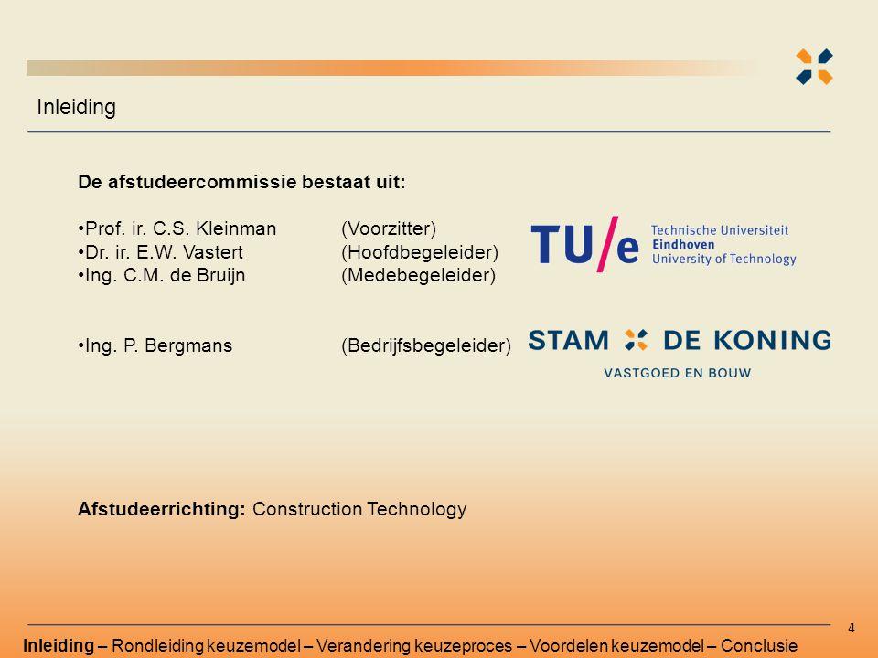 De afstudeercommissie bestaat uit: Prof. ir. C.S. Kleinman(Voorzitter) Dr. ir. E.W. Vastert (Hoofdbegeleider) Ing. C.M. de Bruijn (Medebegeleider) Ing