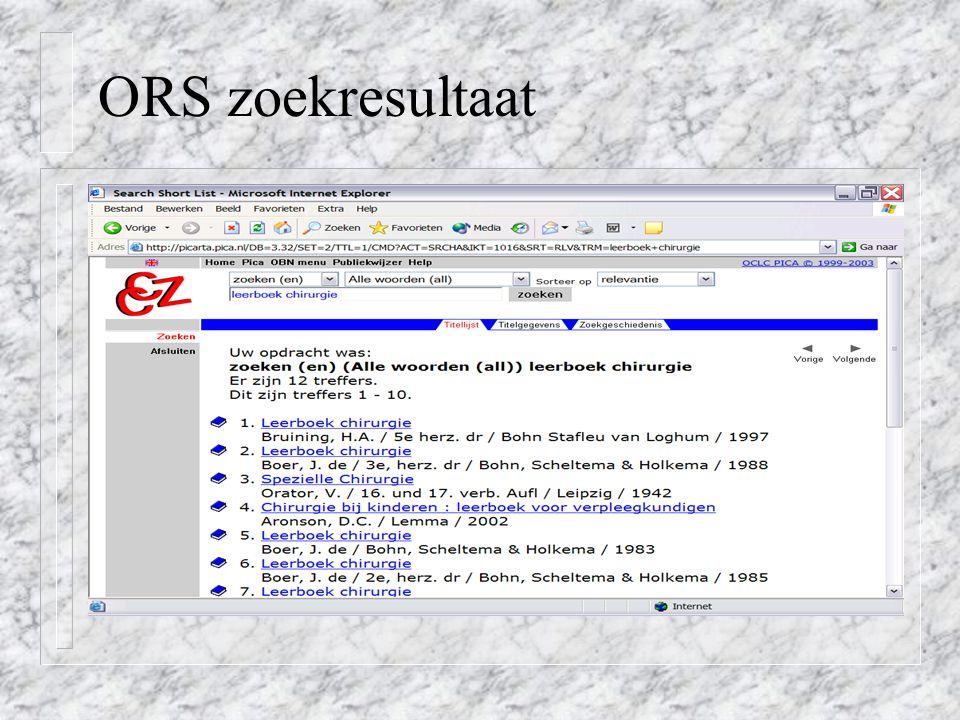 ORS zoekresultaat