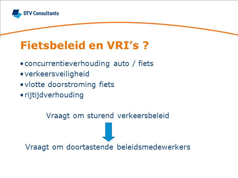 Fietsbeleid en VRI's .