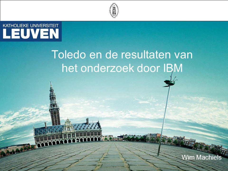 Toledo en de resultaten van het onderzoek door IBM Wim Machiels