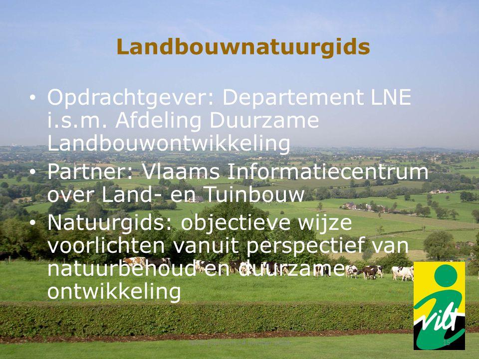 Landbouwnatuurgids Opdrachtgever: Departement LNE i.s.m.