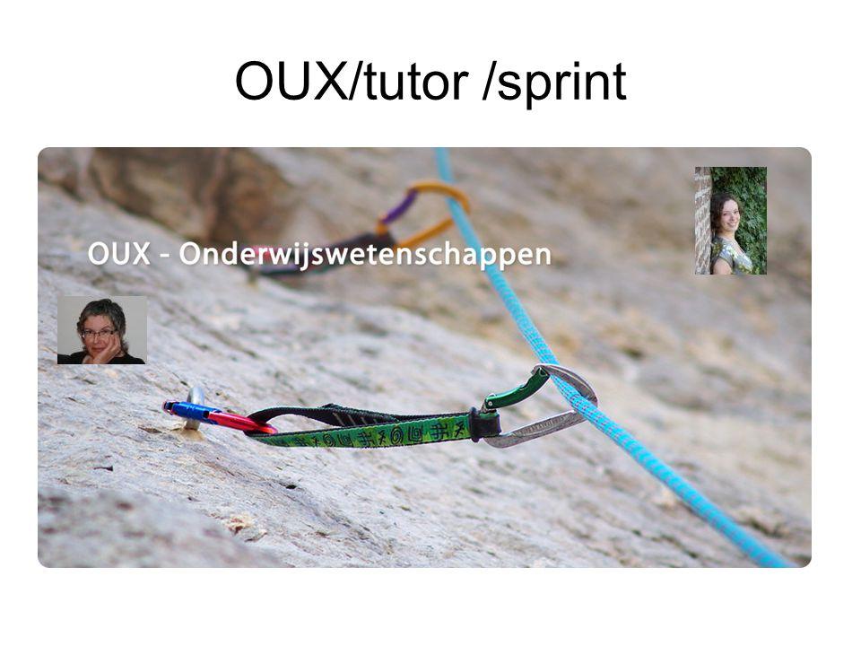 OUX/tutor /sprint