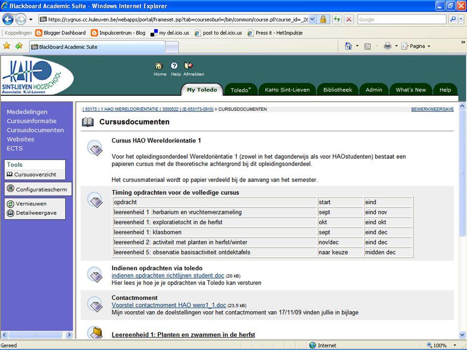14 Voorbeeld - Screenshot Ontwerpen van digitaal studiemateriaal