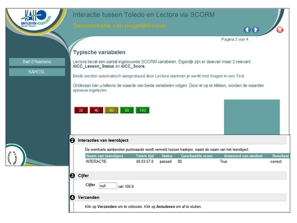 42 Voorbeeld – SCORM Gebruiken van digitaal studiemateriaal