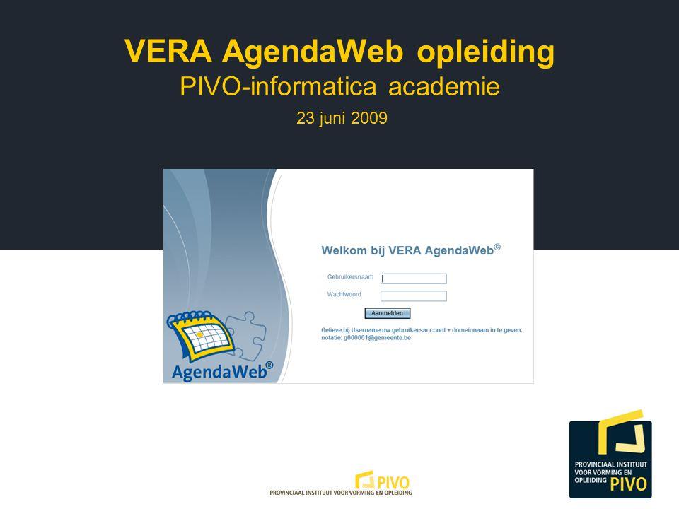 VERA AgendaWeb opleiding PIVO-informatica academie 23 juni 2009