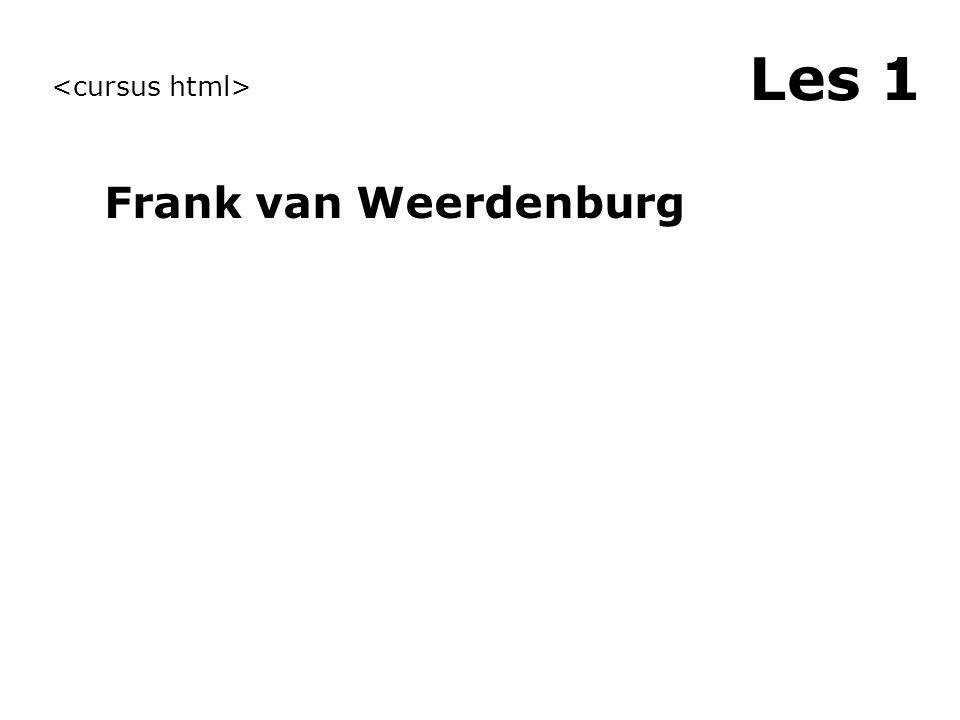 Les 1 Frank van Weerdenburg