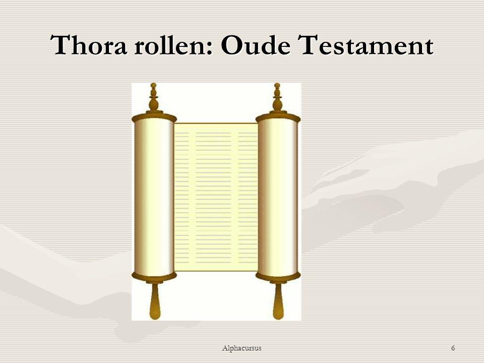 6 Thora rollen: Oude Testament