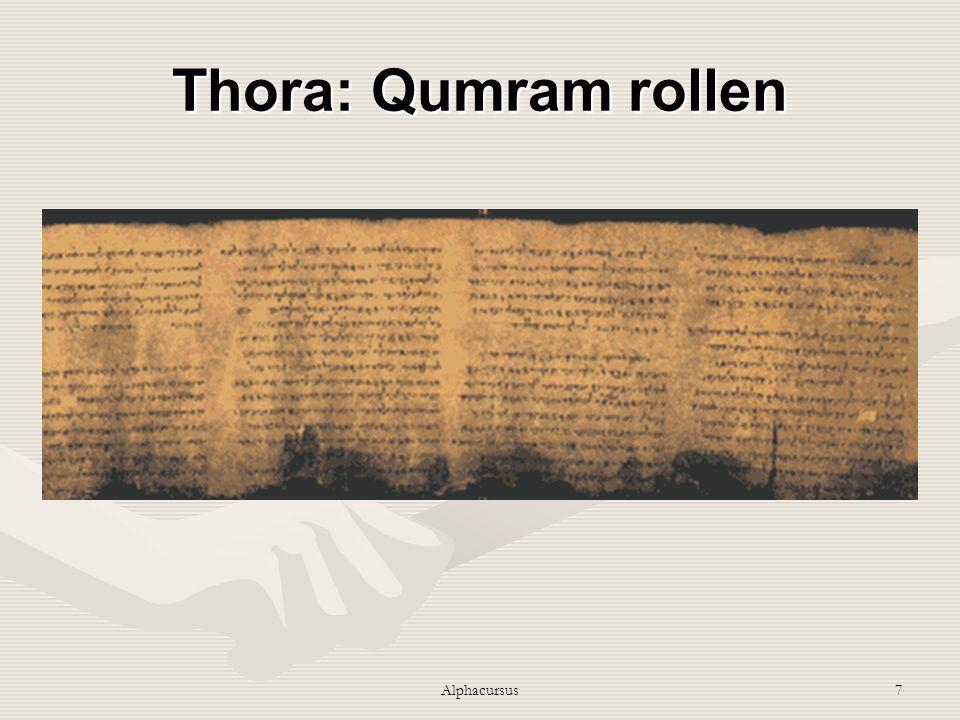 Alphacursus7 Thora: Qumram rollen