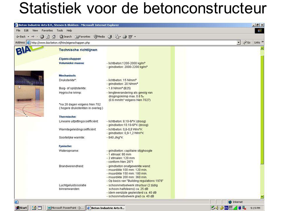 Statistiek voor de betonconstructeur