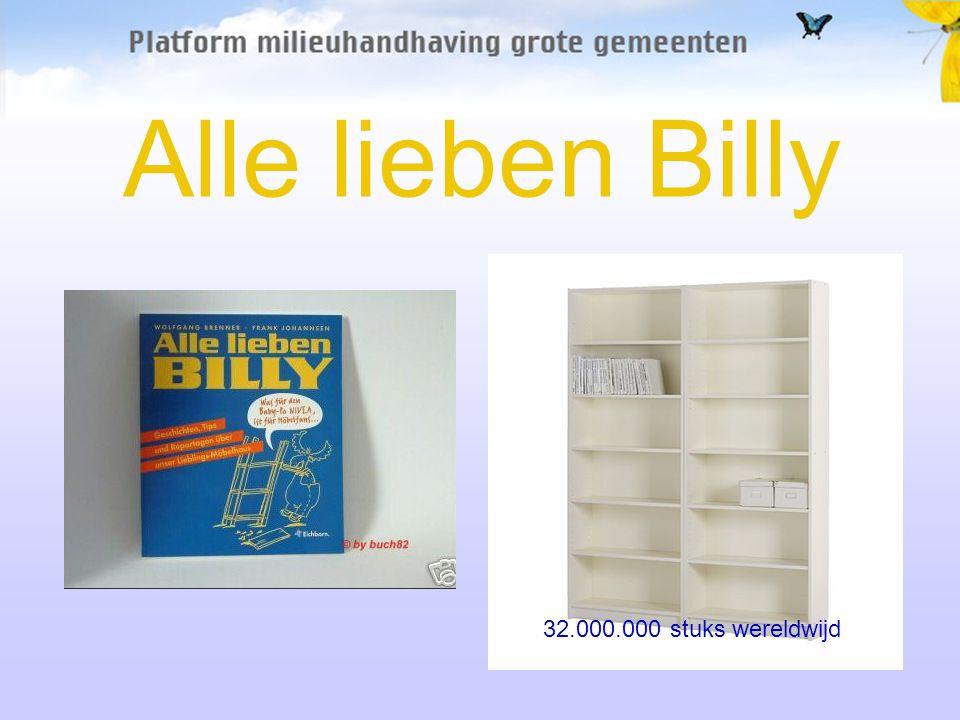 Alle lieben Billy 32.000.000 stuks wereldwijd