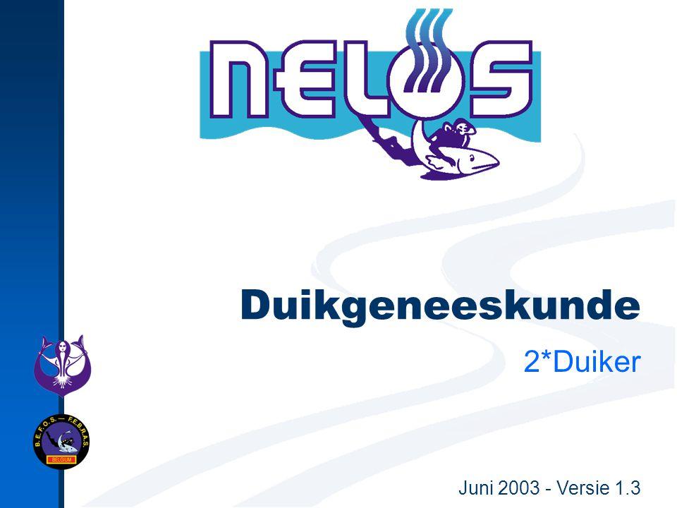 Juni 2003 - Versie 1.3 Duikgeneeskunde 2*Duiker