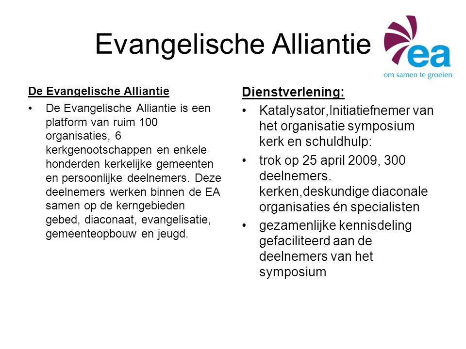 Evangelische Alliantie De Evangelische Alliantie De Evangelische Alliantie is een platform van ruim 100 organisaties, 6 kerkgenootschappen en enkele h