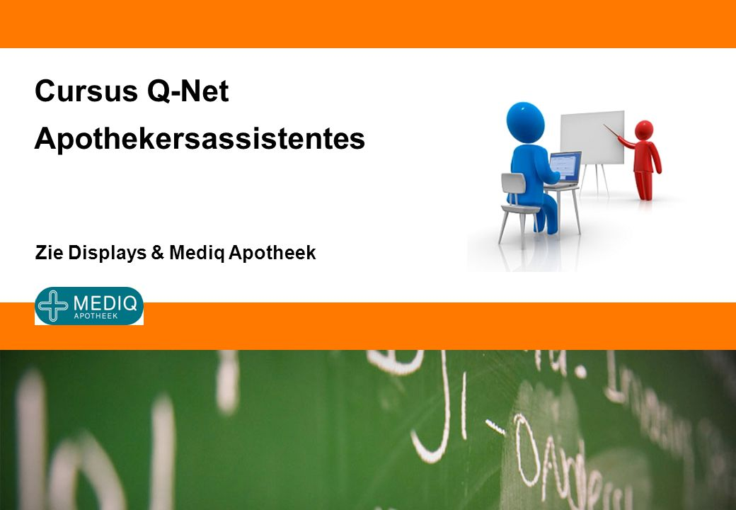 Cursus Q-Net Apothekersassistentes Zie Displays & Mediq Apotheek