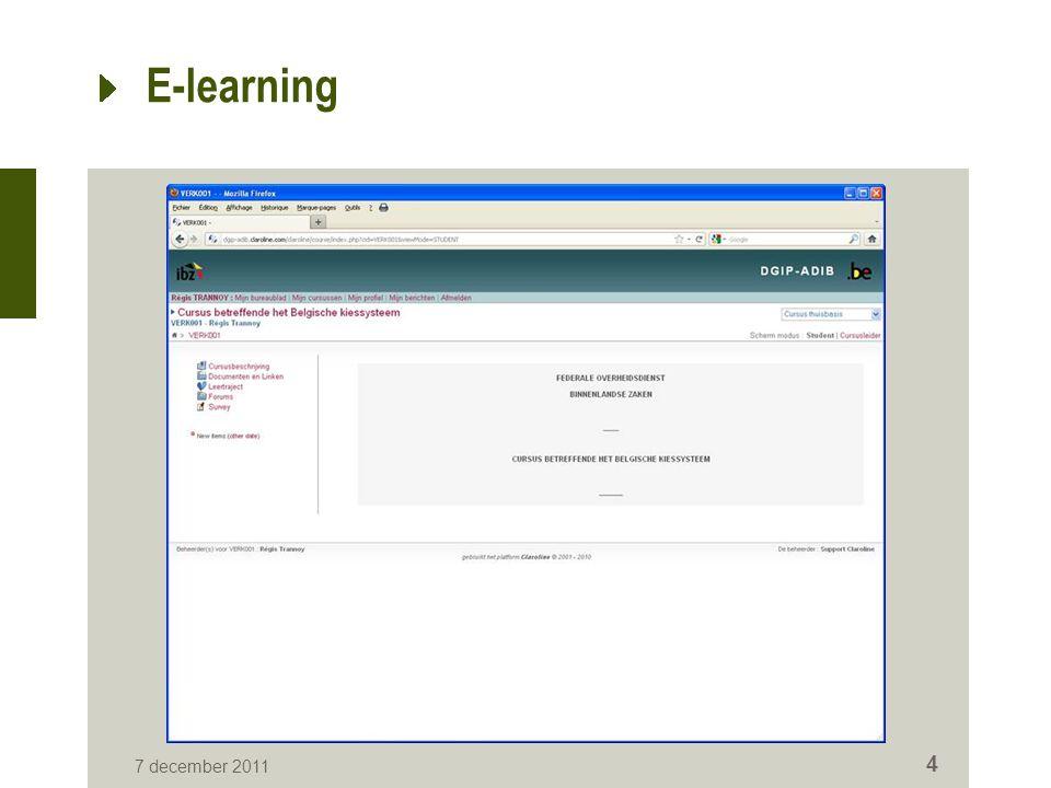 E-Learning 7 december 2011 5