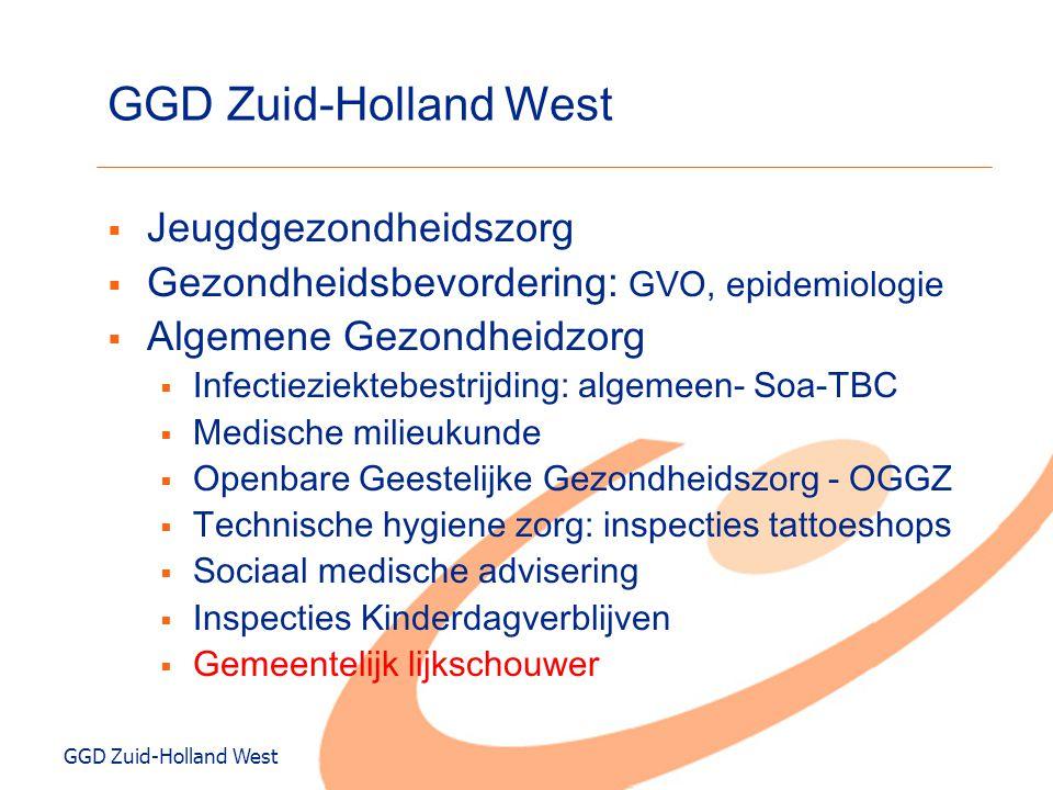 GGD Zuid-Holland West  Jeugdgezondheidszorg  Gezondheidsbevordering: GVO, epidemiologie  Algemene Gezondheidzorg  Infectieziektebestrijding: algem