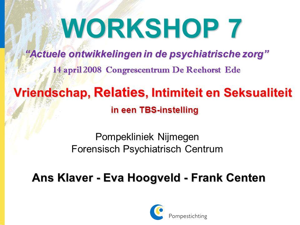 De VRIS-cursus VRIS staat voor Vriendschap, Relaties, Intimiteit en Seksualiteit OORSPRONG De VRIS cursus is opgezet door Forensisch Psychiatrisch Centrum 'Veldzicht' te Balkbrug.