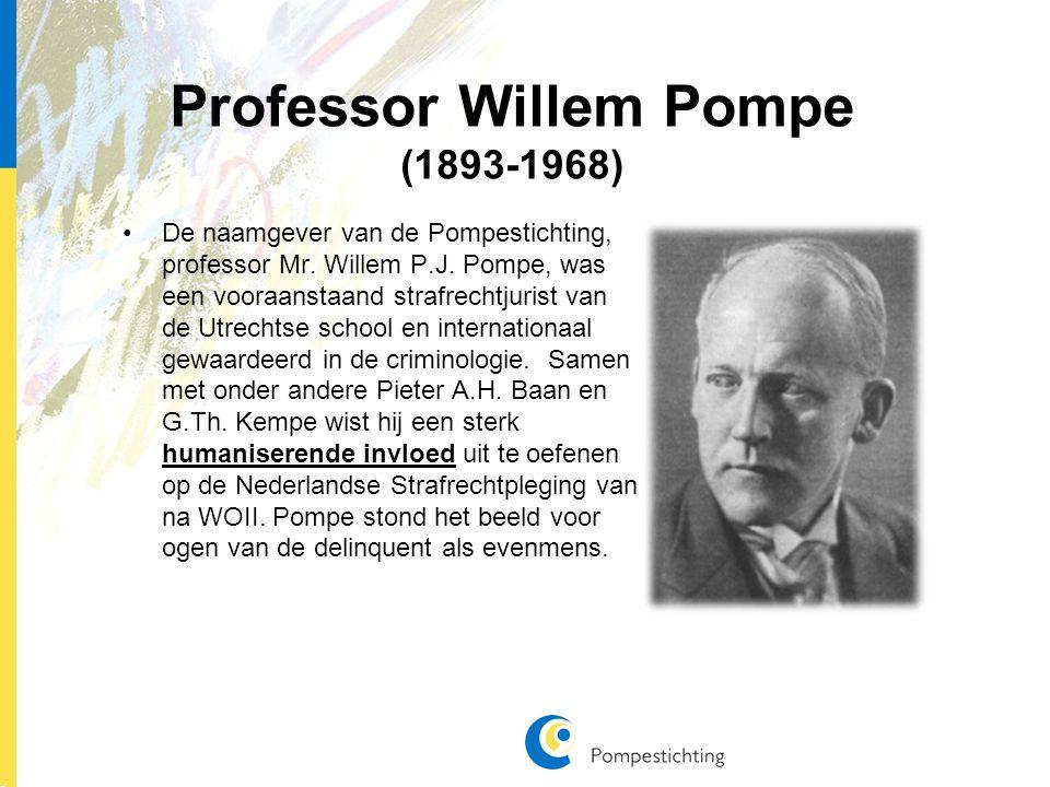 Professor Willem Pompe (1893-1968) De naamgever van de Pompestichting, professor Mr.