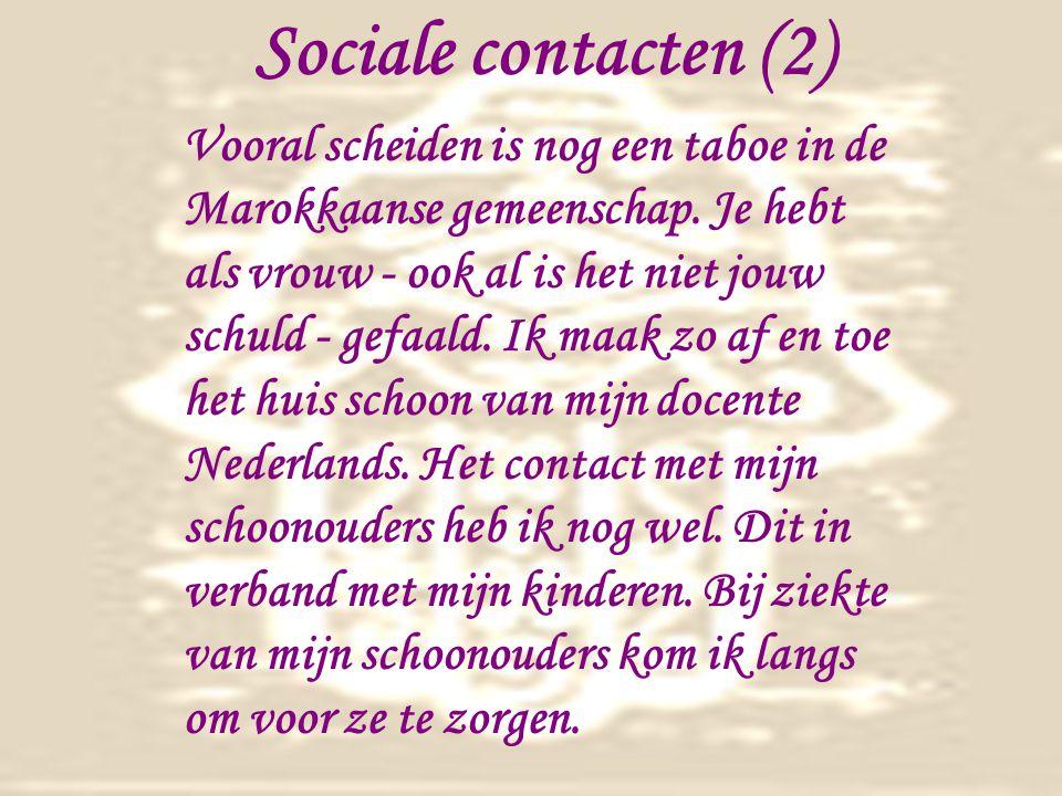 Sociale contacten (2) Vooral scheiden is nog een taboe in de Marokkaanse gemeenschap.