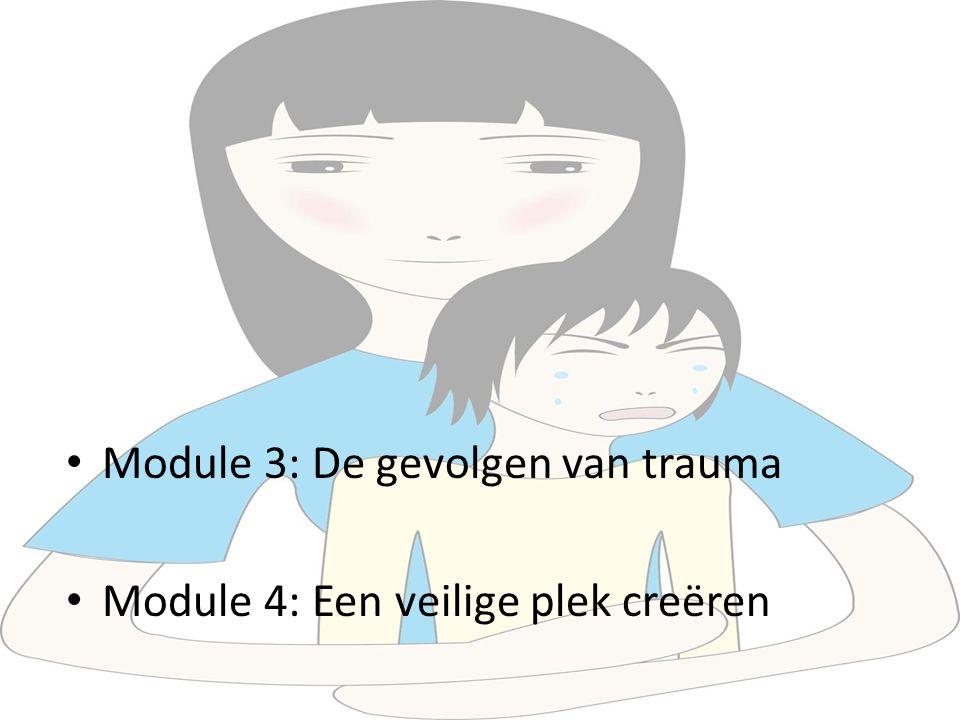 Module 3: De gevolgen van trauma Module 4: Een veilige plek creëren